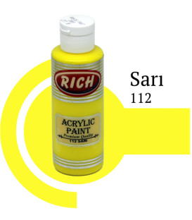 Rich 112 Sarı 130 ml Akrilik Boya