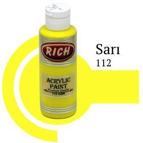Rich 112 Sarı 130 ml Ahşap Boyası