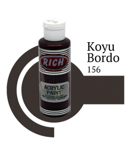 Rich 156 Koyu Bordo 130 ml Akrilik Boya