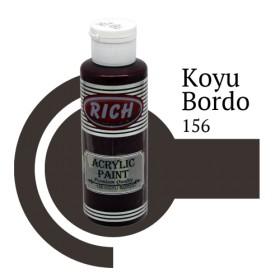 Rich 156 Koyu Bordo 130 ml Ahşap Boyası