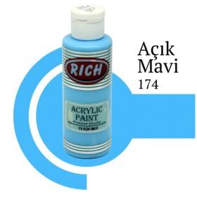 Rich 174 Açık Mavi 130 ml Akrilik Boya