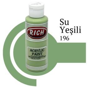 Rich 196 Su Yeşili 130 ml Ahşap Boyası