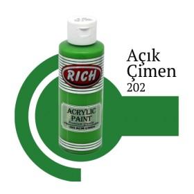 Rich 202 Açık Çimen 130 ml Akrilik Boya