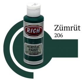 Rich 206 Zümrüt 130 ml Akrilik Boyası
