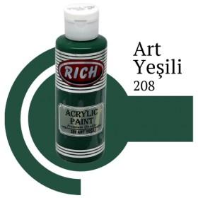 Rich 208 Art Yeşili 130 ml Ahşap Boyası