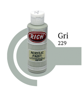 Rich 229 Gri 130 ml Akrilik Boya