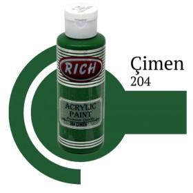 Rich 204 Çimen 130 ml Ahşap Boyası