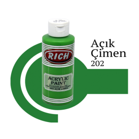 Rich 200 Fıstık Yeşili 130 ml Akrilik Boya