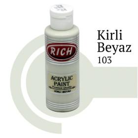 Rich 103 Kirli Beyaz 130 ml Akrilik Boya