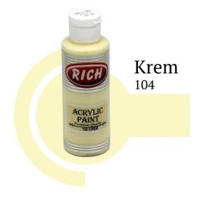 Rich 104 Krem 130 ml Ahşap Boyası