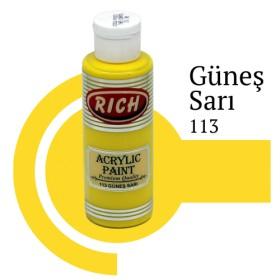 Rich 113 Güneş Sarı 130 ml Akrilik Boya