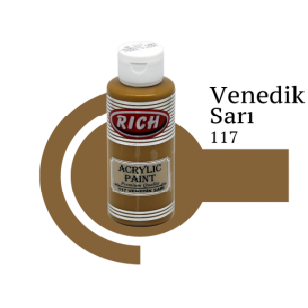 Rich 117 Venedik Sarı 130 ml Akrilik Boya
