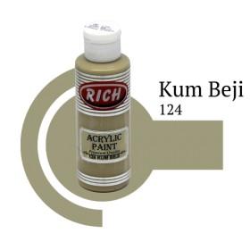 Rich 124 Kum Beji 130 ml Akrilik Boyası