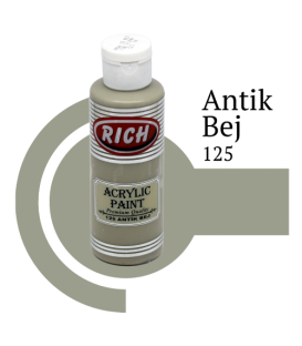 Rich 125 Antik Bej 130 ml Akrilik Boya