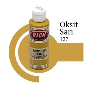 Rich 127 Oksit Sarı 130 ml Akrilik Boyası