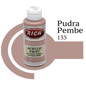 Rich 133 Pudra Pembe 130 ml Akrilik Boyası