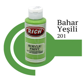 Rich 201 Bahar Yeşili 130 ml Ahşap Boyası