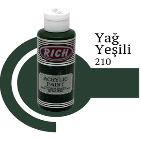 Rich 210 Yağ Yeşili 130 ml Akrilik Boyası