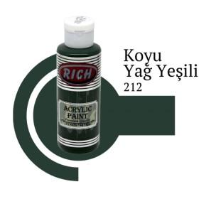 Rich 212 Koyu Yağ Yeşili 130 ml Ahşap Boyası