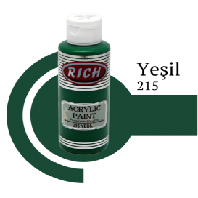 Rich 215 Yeşil 130 ml Ahşap Boyası