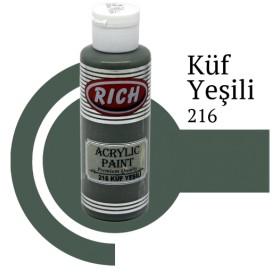 Rich 216 Küf Yeşili 130 ml Ahşap Boyası