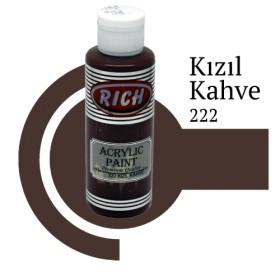Rich 222 Kızıl Kahve 130 ml Akrilik Boya