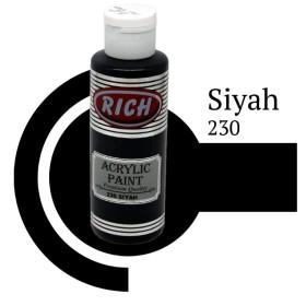 Rich 230 Siyah 130 ml Akrilik Boya