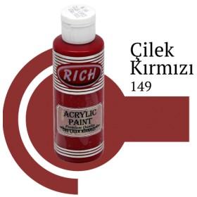 Rich 149 Çilek Kırmızı 130 ml Akrilik Boya