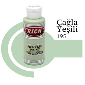 Rich 195 Çağla Yeşili 130 ml Akrilik Boyası