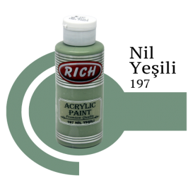 Rich 197 Nil Yeşili 130 ml Akrilik Boyası