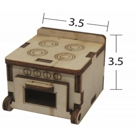 Fırın-Ocak Minyatür Ahşap Obje MN 45
