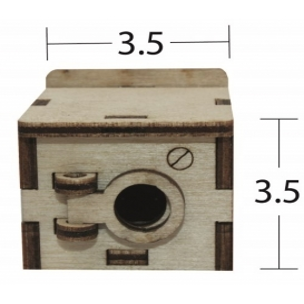 Çamaşır Makinesi Minyatür Ahşap Obje MN 47