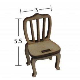 Vintage Sandalye Minyatür Ahşap Obje MN 57