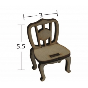 Vintage Sandalye Minyatür Ahşap Obje MN 58