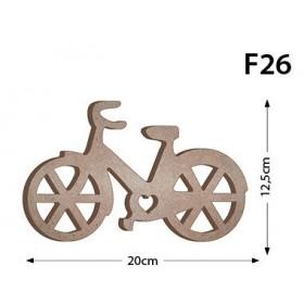 18mm Bisiklet Ahşap Obje 20x12cm