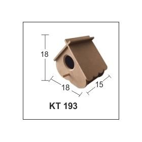 Yeni Model Kuş Evi Küçük 18x18x15cm