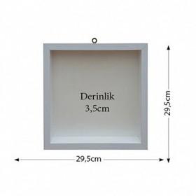 Kare Kokulu Taş Panosu 29,5x29,5cm