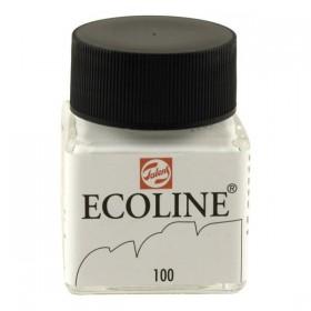 Talens Ecoline 100 White  Sıvı Suluboya 30 ml