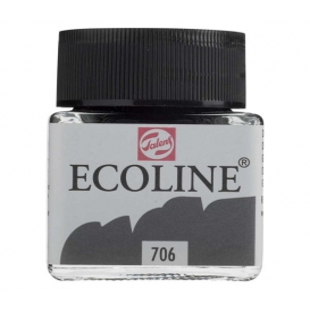 Talens Ecoline 706 Deep Grey Sıvı Suluboya 30 ml