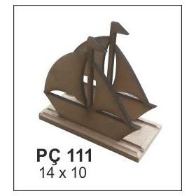 Yelkenli Peçetelik 14x10 cm. Ahşap Obje