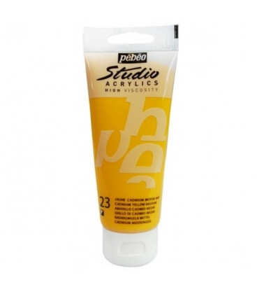 Pebeo Studio Akrilik Boya 100ml. 23 Cadmium Yellow Medium Hue