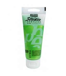 Pebeo Studio Akrilik Boya 100ml. 359 Iridescent Green Yellow