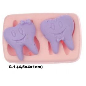 Silikon Kalıp İkili Gülen Diş G-1