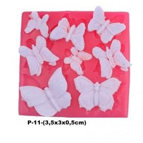Silikon Kalıp Karışık Kelebekler P-11