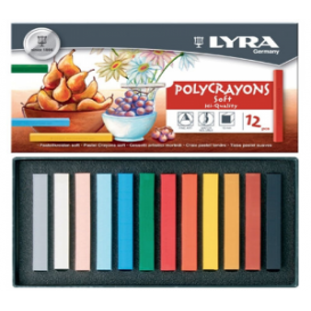 Lyra Polycrayons Soft - Toz Pastel 12 Renk