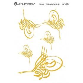 MyHobby Altın Simli Kolay Transfer 17x25cm A-S02