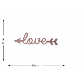 Kuyruklu Love Ahşap Obje 40x10cm