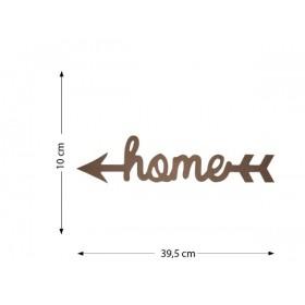 Kuyruklu Home Ahşap Obje 40x10cm