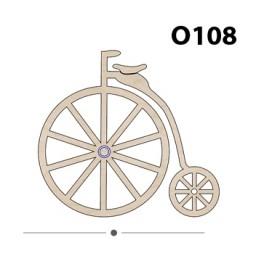 Lazer Kesim Ahşap Obje O108 Bisiklet