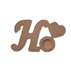 18mm Mumluk Harf - H - Ahşap Obje